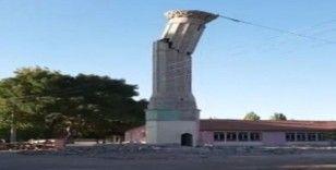 İmece usulü minare yıkımı