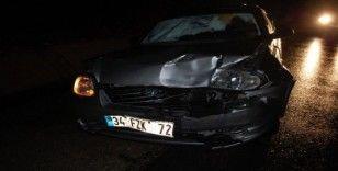 Şiddetli sağanak kazaya neden oldu: 2 yaralı