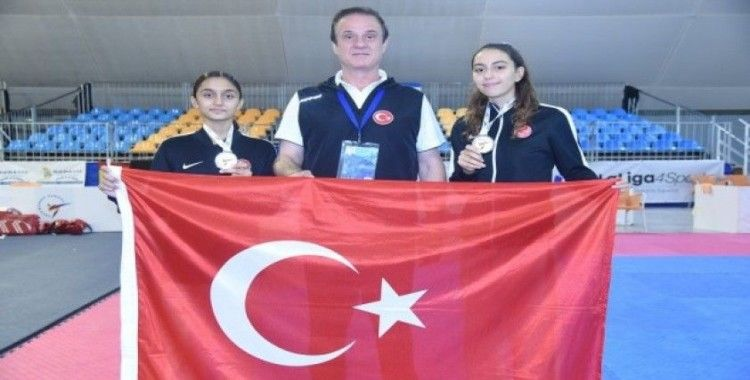 Genç taekwondoculardan 2 Avrupa ikinciliği