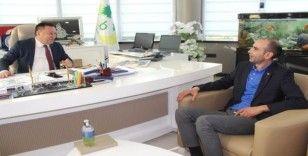 İş adamı Aldudak'tan Başkan Beyoğlu'na ziyaret