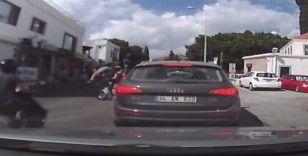 Kaza anı araç kamerasında