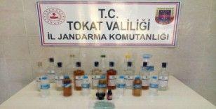 Tokat ve Amasya'da eş zamanlı sahte içki operasyonu