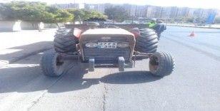 Traktör sürücülerine reflektör cezası