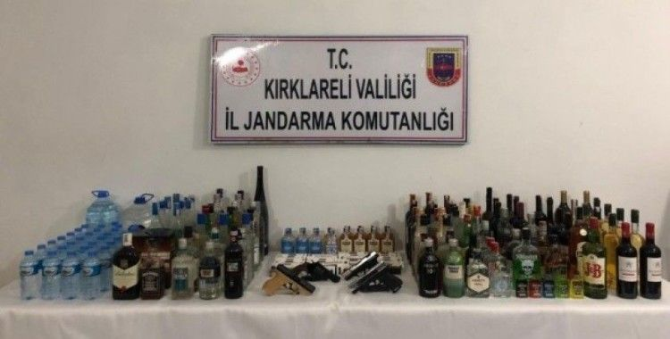 Kırklareli'de kaçak içki operasyonu