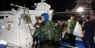 Çanakkale'de 105 mülteci yakalandı