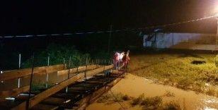 Artvin'in Borçka ilçesinde şiddetli yağış