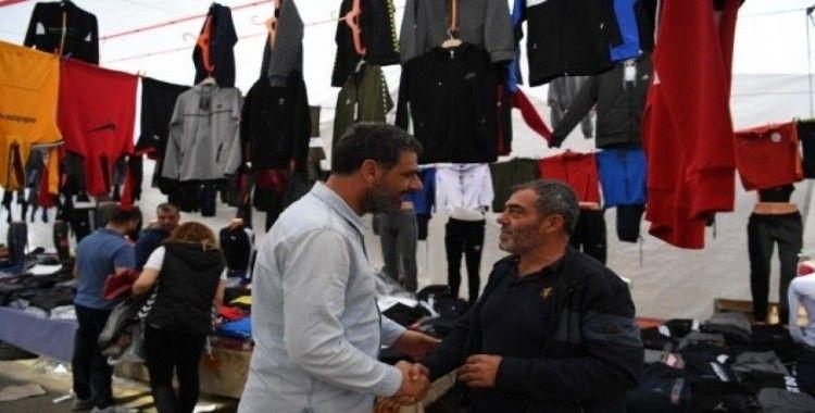 Başkan Kocaman Ulus pazarında