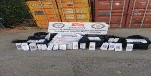 Gaziantep'te 6 bin 250 paket kaçak sigara ele geçirildi