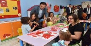 Başkan Şahin minik öğrencilerle bir araya geldi