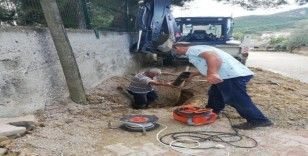 Bayırköy'de su patlağı onarıldı