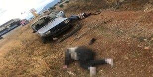 Kontrolden çıkan otomobil, taklalar atıp tarlaya uçtu: 1 ölü, 2 yaralı