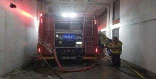 Başakşehir AYKOSAN'da iş yerinde korkutan yangın