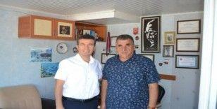 Bozyazı İlçe Emniyet Müdürü Güngör'den İHA muhabirine ziyaret