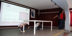 Kartal Belediyesinden öğrencilere deprem bilinçlendirme eğitimi