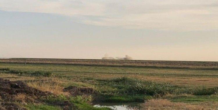 Nusaybin'e roketin düşme anı kamerada
