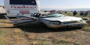 Didim TOKİ kavşağında feci kaza2 yaralı