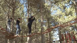 Adrenalin tutkunlarının yeni adresi 'Macera Parkı'