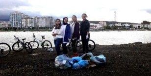 OMÜ öğrencilerinden çevre temizliği