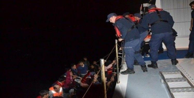 Çanakkale açıklarında 47 düzensiz göçmen yakalandı