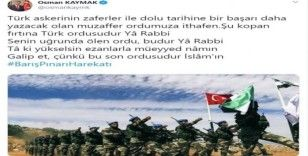 Vali Kaymak'tan 'Barış Pınarı' mesajı