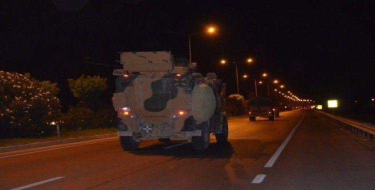 Gece yarısı Suriye sınırına asker ve malzeme takviyesi