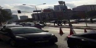 Anadolu Adalet Sarayı önünde silahlı çatışma anları kamerada