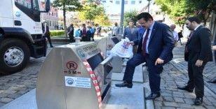 Genç, yer altı çöp konteynır sistemini inceledi
