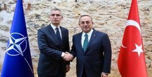 NATO Genel Sekreteri Stoltenberg,  Dolmabahçe Ofiste Bakan Çavuşoğlu tarafından karşılandı