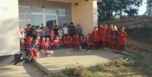 Kuzey Makedonya'da Ali Koç köyünde yapılan okula belediye engeli