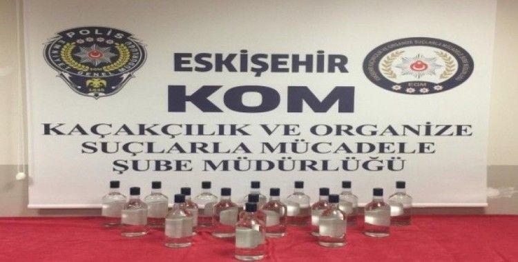 Eskişehir'de 17 litre etil alkol ele geçirildi