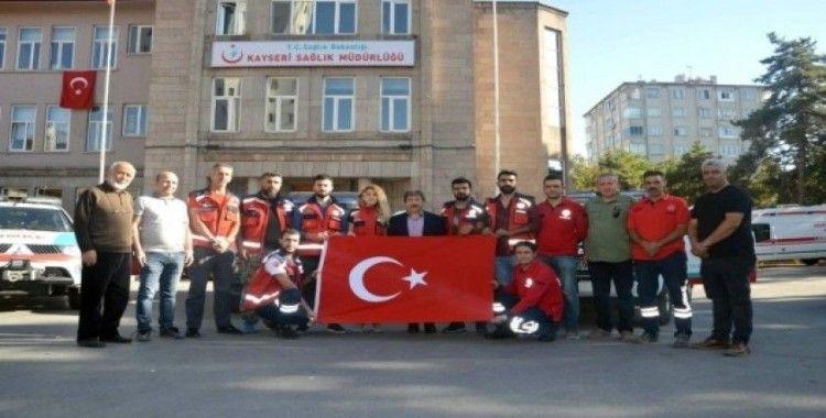 10 kişilik gönüllü UMKE ekibi sınıra dualarla uğurlandı