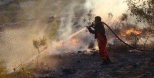 Silifke'de otluk alanda çıkan yangın evleri teğet geçti