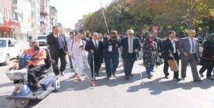 Afyonkarahisar'da , 15 Ekim Dünya Beyaz Baston ve Güvenlik Günü