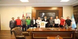 Alanyaspor'dan Rektör Kalan'a hayırlı olsun ziyareti