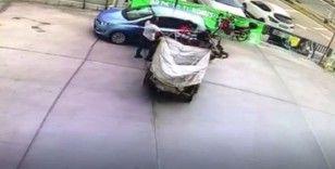 Çalışır durumda bırakılan motosiklet ortalığı birbirine kattı