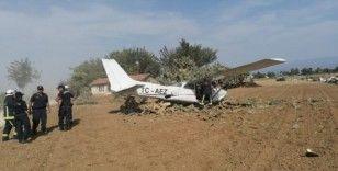 Antalya'da eğitim uçağı kazası