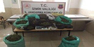 Kiraz'da jandarmadan uyuşturucu baskını