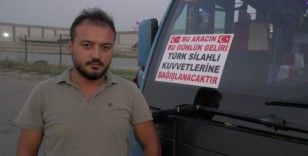 (Özel) Barış Pınarı Harekatı'na minibüs şoföründen kampanyalı destek