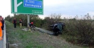 (Özel) Otobanda kaza: 1 ağır yaralı