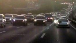 İstanbul'da lüks otomobilli düğün konvoyu terörü kamerada
