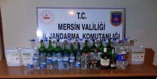 Mersin'de 47.5 litre sahte içki ele geçirildi