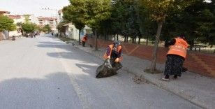 İnönü'de çevre düzenleme çalışmaları sürüyor