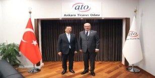 Endonezya Büyükelçisi İkbal, ATO Başkanı Baran'ı ziyaret etti