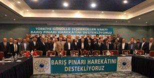 Türkiye Gönüllü Teşekküller Vakfı'ndan Barış Pınarı Harekatı'na destek