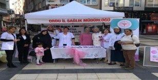Fatsa'da meme kanseri farkındalık etkinliği