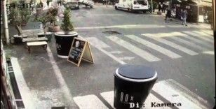 (Özel) İstanbul'da akıl almaz kaza kamerada