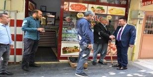Başkan Beyoğlu'na esnaf ilgisi