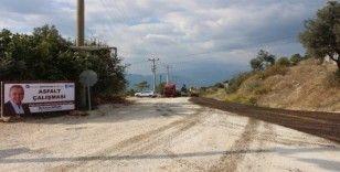 Kumluca'da alt yapı sonrası asfalt