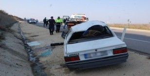 Tekirdağ'da otomobil takla attı: 2 yaralı