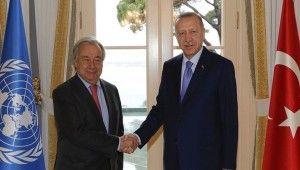 Cumhurbaşkanı Erdoğan BM Genel Sekreteri Antonio Guterres'i kabul etti